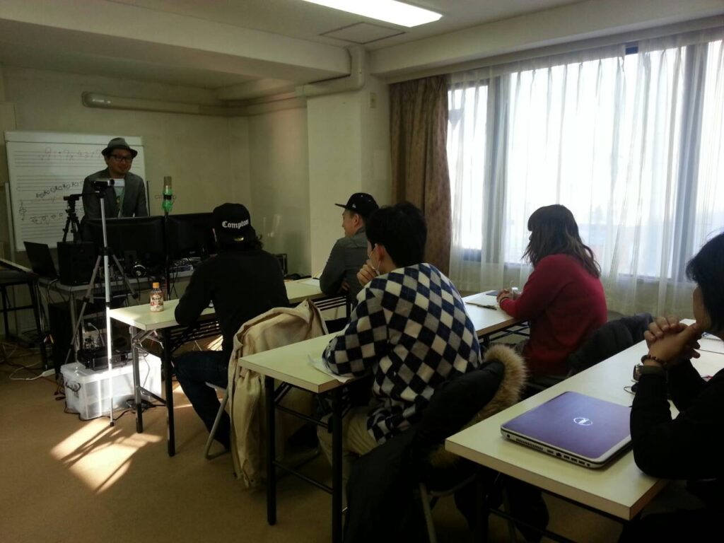 東京DTM作曲音楽学校 第一期生第一回目授業